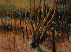 East Fence Line, Painting, Oil on Canvas
