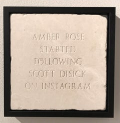 Amber Rose Started Following Scott Disick On Instagram, Marble,Sculpture, Signed