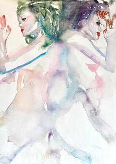 Hooked On A Feeling, Watercolor, Painting, Figurative, Signed