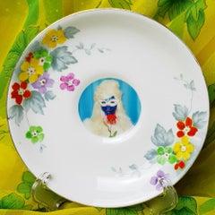 Mae West, Ceramic Plate, Vintage China, Photo Transfer, Signed