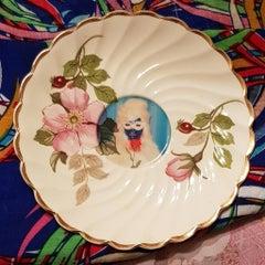 Mae West No 2, Ceramic Plate, Vintage China, Photo Transfer, Signed
