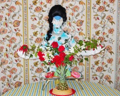 Demure Debutante, Photography, Aluminum Print, Figurative Art, Floral, Signed