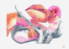 Make Love No 147, Watercolor, Painting, Figurative Art, Nude, Signed, Framed