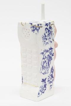 Offline, Sculpture, Porcelain, Glaze, Phone, 24k Luster, Signed
