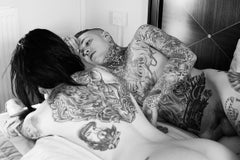 Ryan and Lusy, Photography, Black and White, Tattoos, Nude, Signed, Framed
