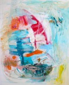 Sailing Through Life, Painting, Acrylic on Canvas