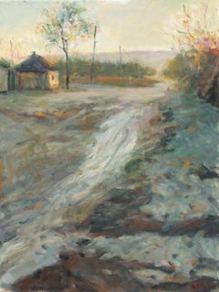 Little village, Painting, Oil on Canvas