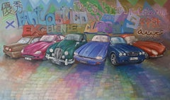 Classic Jaguars  '1', Painting, Oil on Canvas