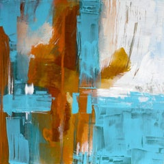 Turquoise Memories, Painting, Acrylic on Canvas