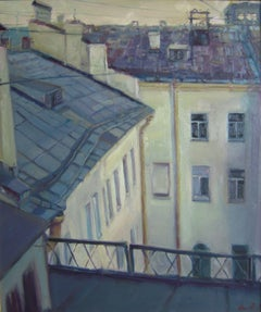 Roof, Painting, Oil on Canvas