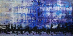 They Came In Droves (70 x 140 cm) (28 x 56 inches), Painting, Acrylic on Canvas