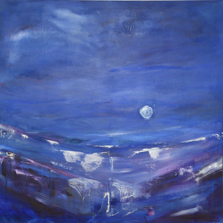 Gesa Reuter Abstract Painting - Silver Dream II, Painting, Acrylic on Canvas