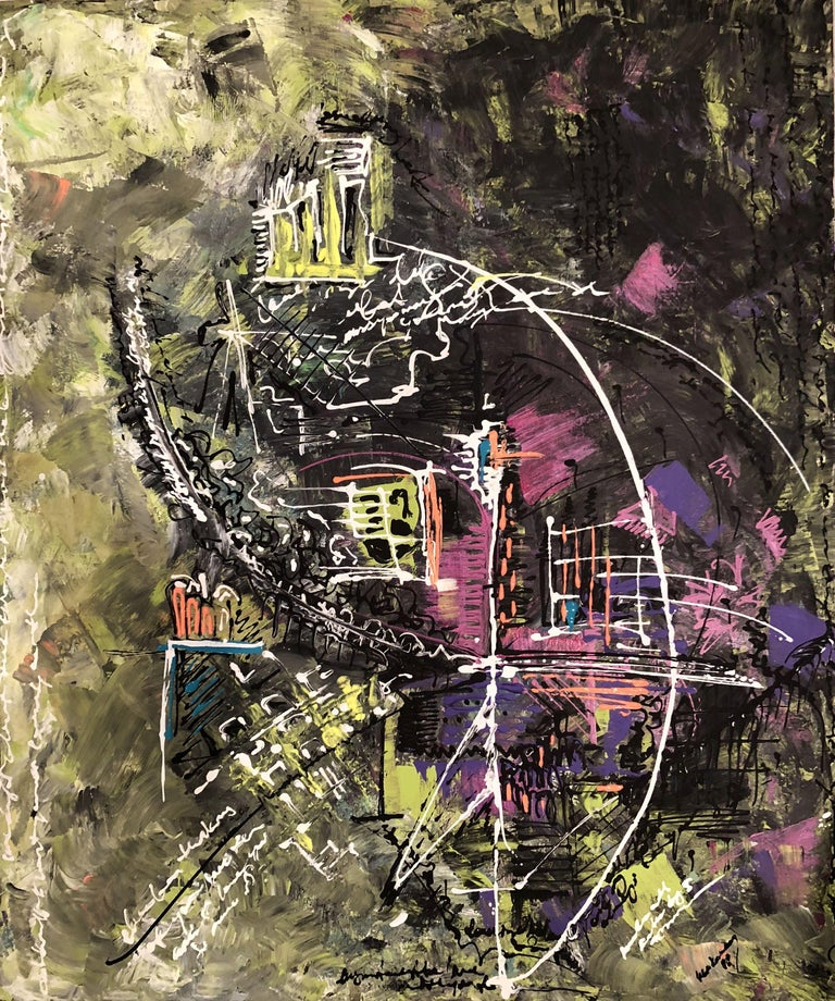 IREM KUCUKAY Abstract Painting - Reciprocal Torture, Painting, Acrylic on Canvas