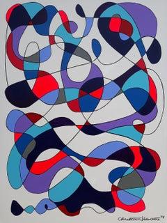 Purple mood, Painting, Acrylic on Canvas