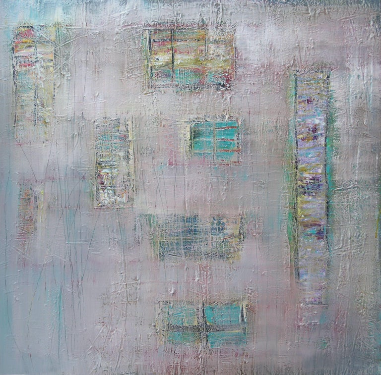 Loretta Kaltenhauser Abstract Painting - Quiet Shelter, Painting, Acrylic on Canvas