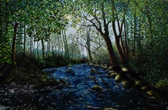 Afon Ysgethin, Painting, Oil on Canvas