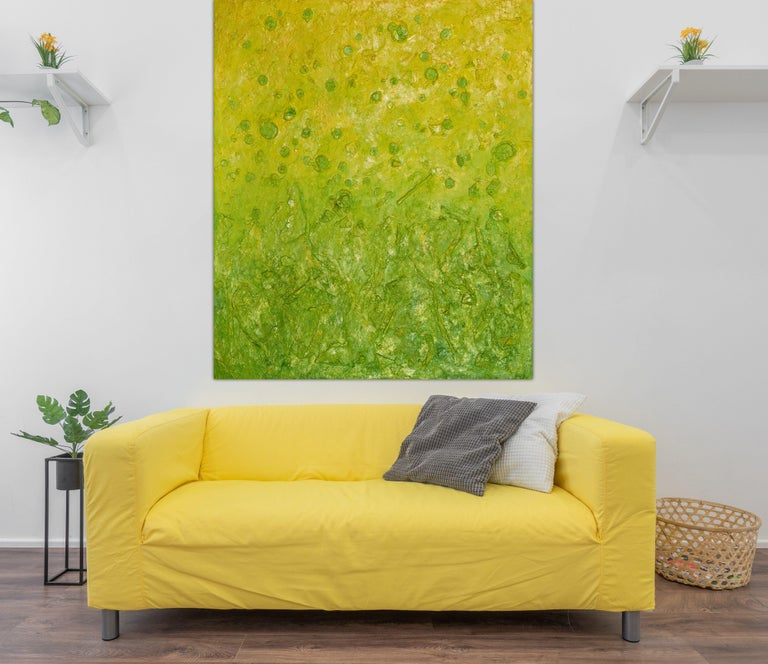 Botanical Blooms, Painting, Oil on Canvas - Brown Abstract Painting by Pamela Rys