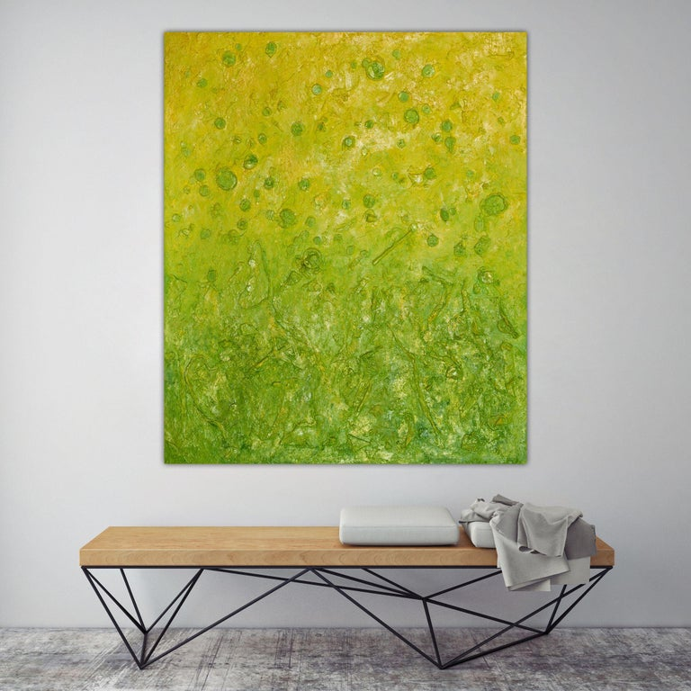 Botanical Blooms, Painting, Oil on Canvas For Sale 2