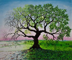 AN OAK OF TWO SEASONS, Painting, Oil on Canvas
