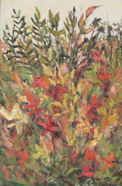 October Garden, Painting, Oil on Canvas