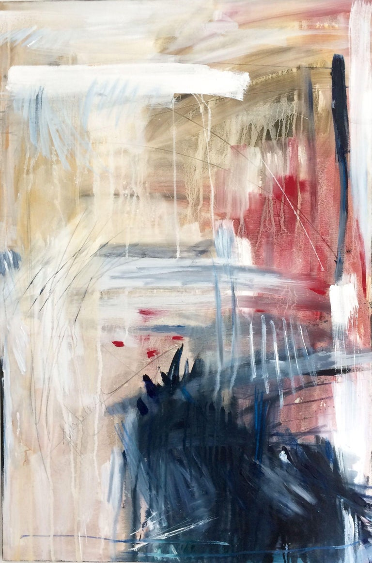 Gesa Reuter Abstract Painting - Hindernisse I Obstacles, Painting, Oil on Canvas