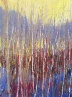 Abstracted Forest, Painting, Oil on Canvas