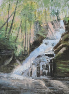 Raymondskill Falls, Painting, Oil on Canvas