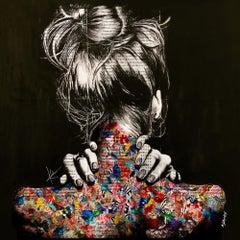 Hazy shade of black, Digital on Canvas