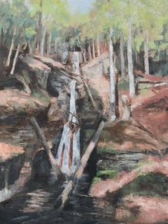 Silver Thread Falls, Painting, Oil on Canvas