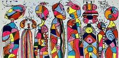 "59X 23,5""( 150X60CM), FRIENDS 18, Painting, Acrylic on Canvas"