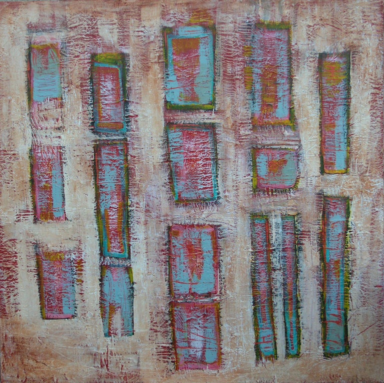 Loretta Kaltenhauser Abstract Painting - Homebound, Painting, Acrylic on Canvas