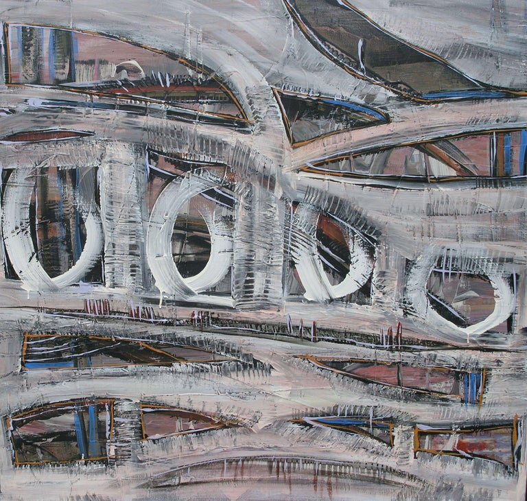 Loretta Kaltenhauser Abstract Painting - Underpass, Painting, Acrylic on Canvas
