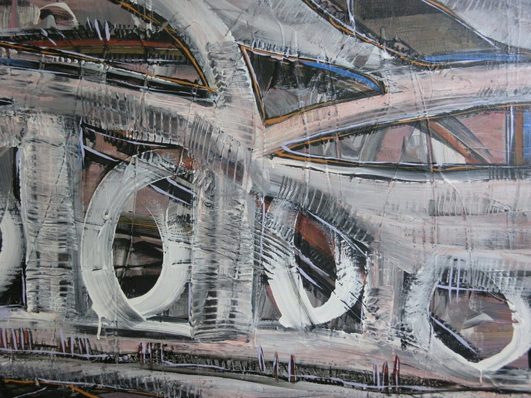 Underpass, Painting, Acrylic on Canvas For Sale 1