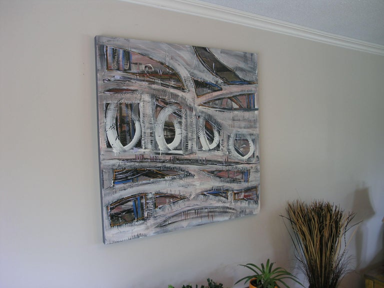 Underpass, Painting, Acrylic on Canvas For Sale 2