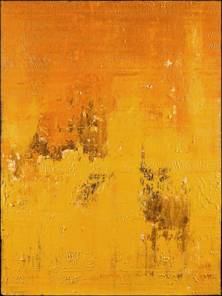 Nemanja Nikolic Abstract Painting - Solid Gold, Painting, Acrylic on Canvas