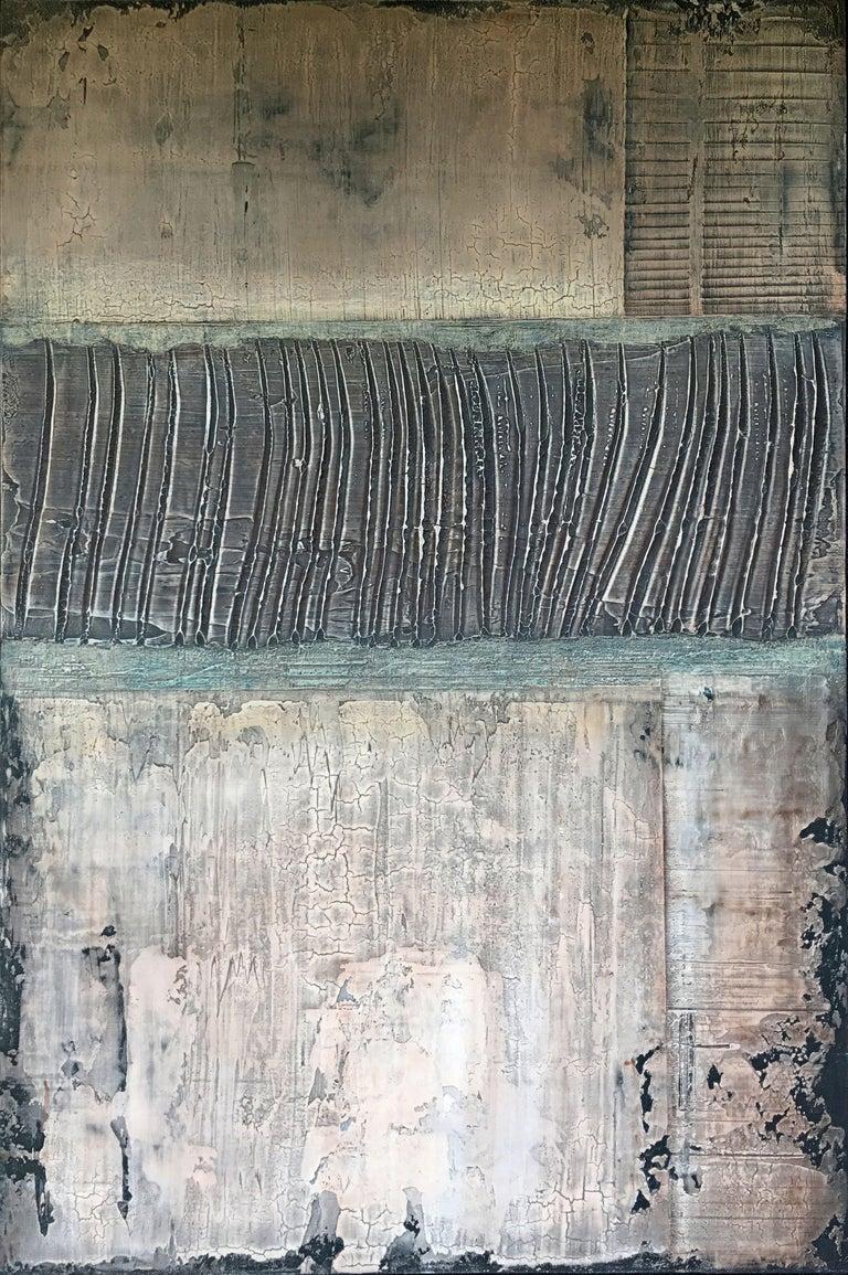 Vern Rollin Abstract Painting - Mitakuye Oyasin, Painting, Acrylic on Canvas