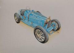 Bugatti Type 35, Drawing, Pencil/Colored Pencil on Paper