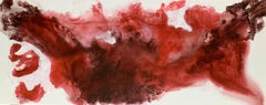 """59x 23,5""""( 150x60cm), Red Flame, Mixed Media on Canvas"""