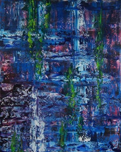 Hanging Gardens (32 x 40 inches), Painting, Oil on Canvas