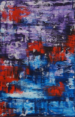 Violent Red (116 x 75 cm) XL (46 x 30 inches), Painting, Oil on Canvas