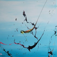 Breeze Riders (Spirits Of Skies 064003), Painting, Acrylic on Canvas