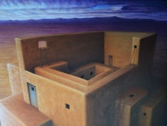 New Mexican Walls, Painting, Oil on Canvas