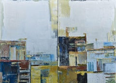 "diptych ""Abstract city 1"", Painting, Oil on Canvas"