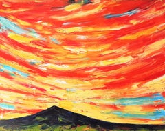 Sunset Explosion, Painting, Oil on Canvas