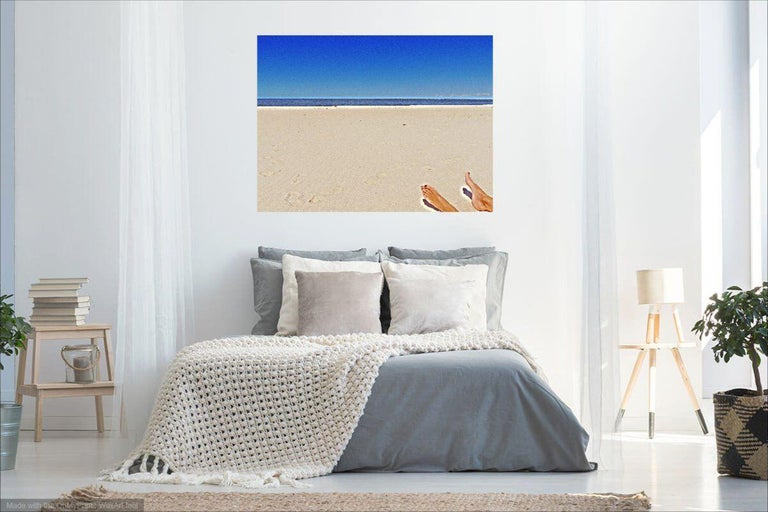 On the beach showing tranquility of nature captured by CMPB-technique - Original photograph face-mounted behind 2 mm acrylic glass which gives the image extra depth and excellent protection from UV light. On the back a thin Dibond plate is mounted