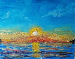 Sunrise at Sea, Painting, Oil on Canvas