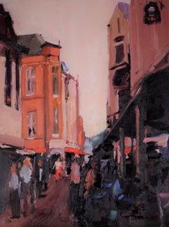 Street Scenes, Painting, Oil on MDF Panel