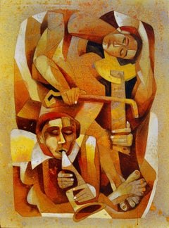 Musicians IV, Painting, Acrylic on Canvas
