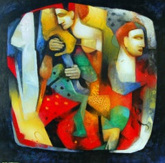 Musicians III, Painting, Acrylic on Canvas