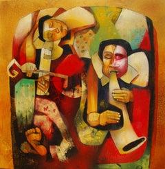 Musicians II, Painting, Acrylic on Canvas
